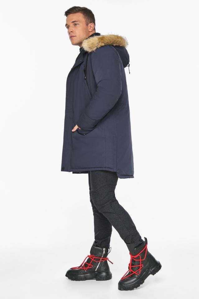 """Куртка – воздуховик зимний мужской синего цвета модель 45062 Braggart """"Angel's Fluff Man"""" фото 3"""