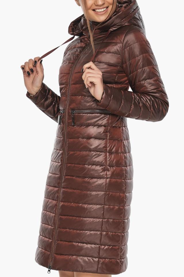 """Куртка трендовая каштановая женская осенне-весенняя модель 68410 Braggart """"Angel's Fluff"""" фото 6"""