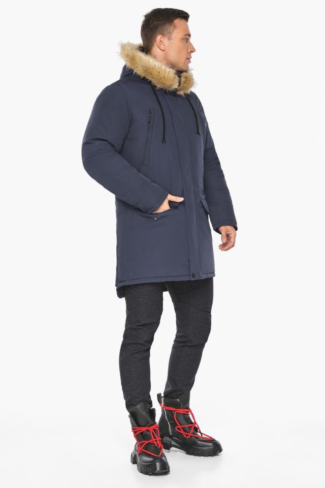"""Куртка – воздуховик зимний мужской синего цвета модель 45062 Braggart """"Angel's Fluff Man"""" фото 2"""