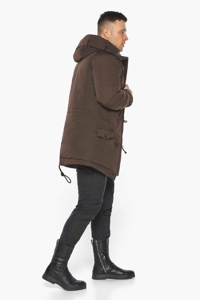 """Куртка – воздуховик коричневый утеплённый мужской зимний модель 30707 Braggart """"Angel's Fluff Man"""" фото 8"""