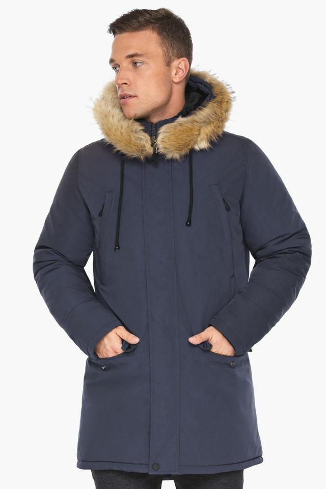 """Куртка – воздуховик зимний мужской синего цвета модель 45062 Braggart """"Angel's Fluff Man"""" фото 4"""