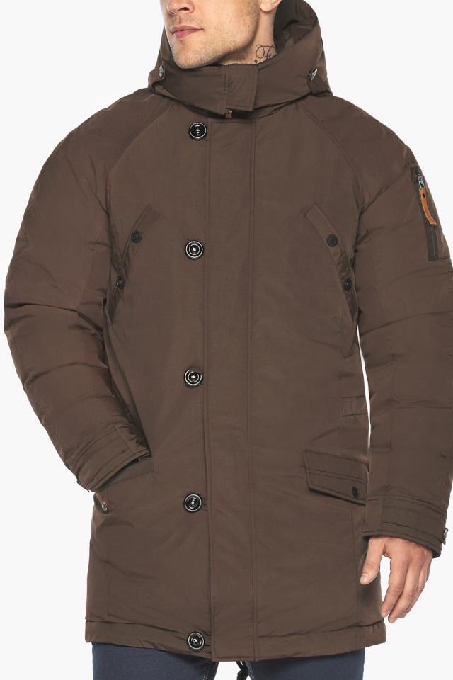 """Куртка – воздуховик коричневый утеплённый мужской зимний модель 30707 Braggart """"Angel's Fluff Man"""" фото 11"""