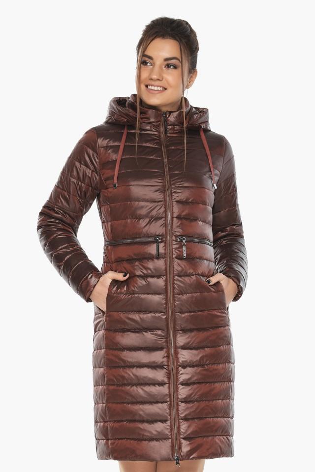 """Куртка трендовая каштановая женская осенне-весенняя модель 68410 Braggart """"Angel's Fluff"""" фото 4"""