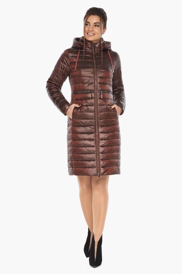 """Куртка трендовая каштановая женская осенне-весенняя модель 68410 Braggart """"Angel's Fluff"""" фото 2"""