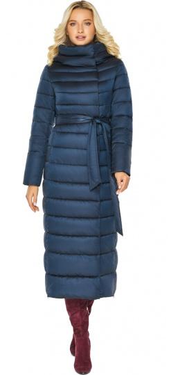 """Сапфировая куртка с потайными карманами женская зимняя модель 46620 Braggart """"Angel's Fluff"""" фото 1"""