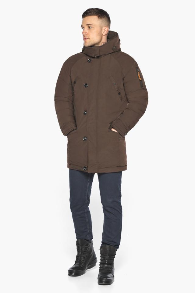 """Куртка – воздуховик коричневый утеплённый мужской зимний модель 30707 Braggart """"Angel's Fluff Man"""" фото 5"""