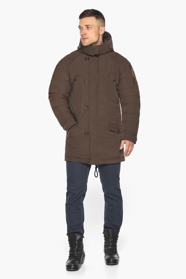 """Куртка – воздуховик коричневый утеплённый мужской зимний модель 30707 Braggart """"Angel's Fluff Man"""" фото 2"""