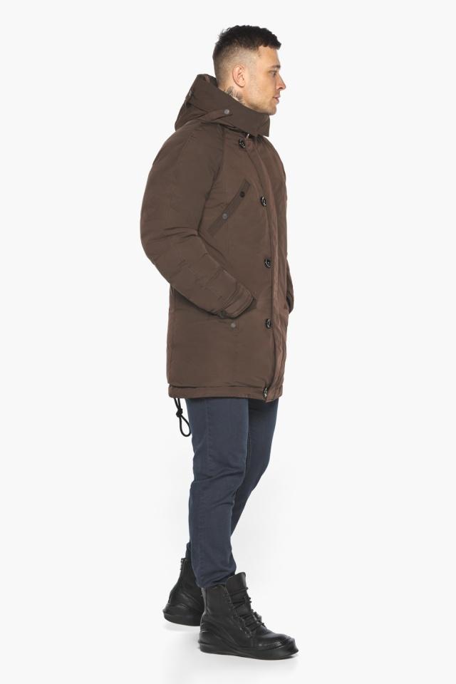 """Куртка – воздуховик коричневый утеплённый мужской зимний модель 30707 Braggart """"Angel's Fluff Man"""" фото 7"""