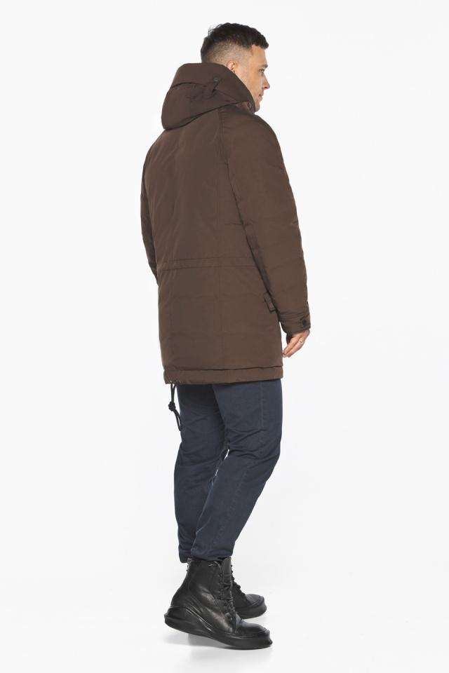 """Куртка – воздуховик коричневый утеплённый мужской зимний модель 30707 Braggart """"Angel's Fluff Man"""" фото 10"""