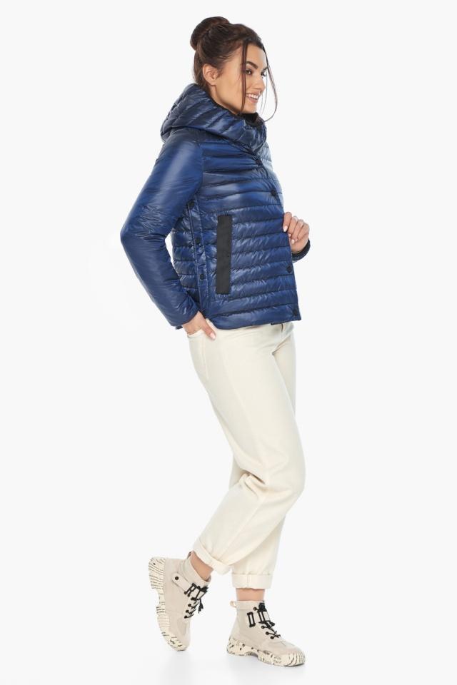 """Женская куртка сапфировая удобная на весну модель 64150 Braggart """"Angel's Fluff"""" фото 5"""