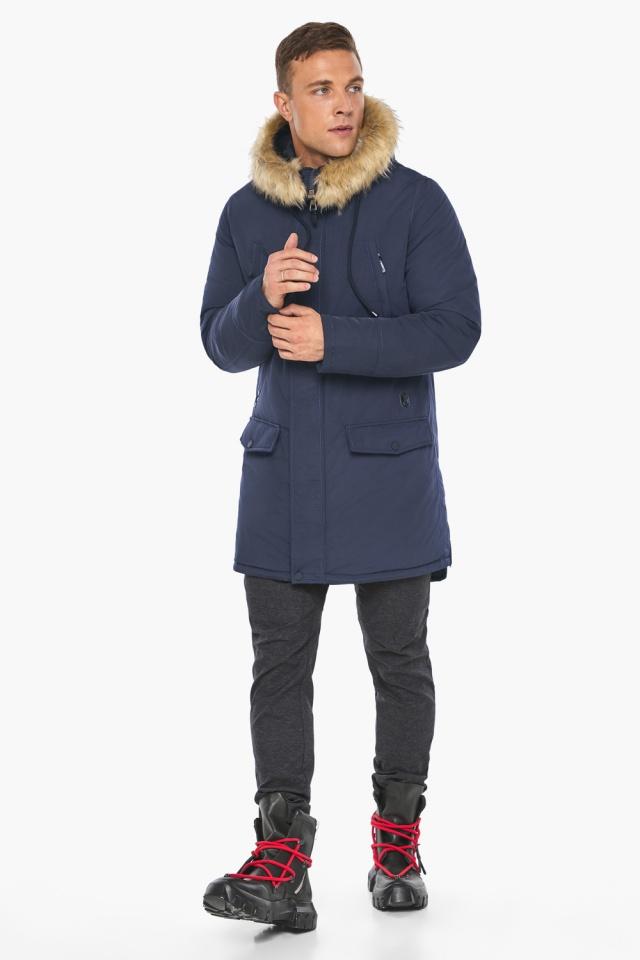 """Куртка – воздуховик зимний мужской синего цвета модель 45062 Braggart """"Angel's Fluff Man"""" фото 5"""