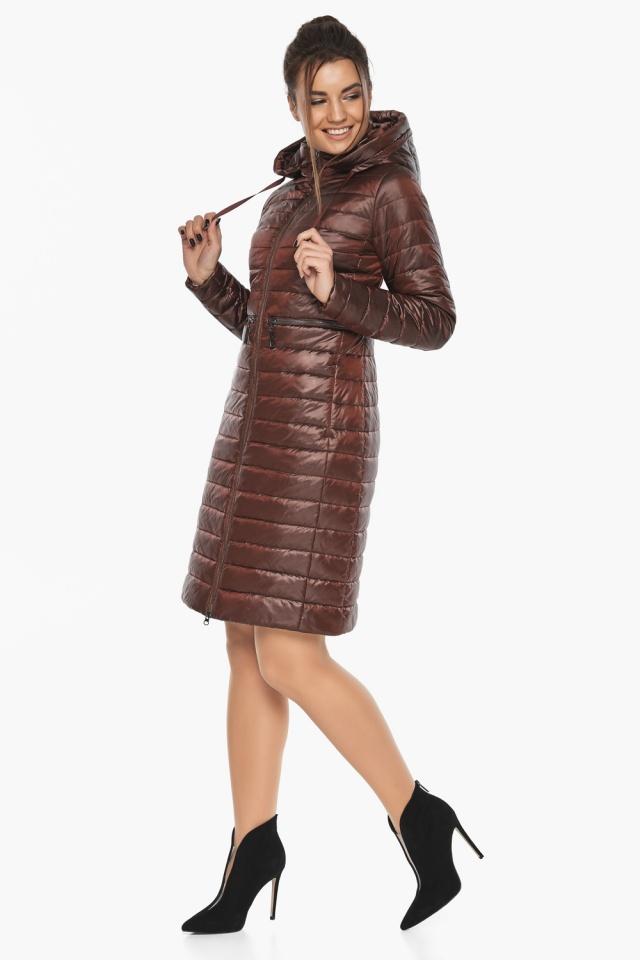 """Куртка трендовая каштановая женская осенне-весенняя модель 68410 Braggart """"Angel's Fluff"""" фото 3"""