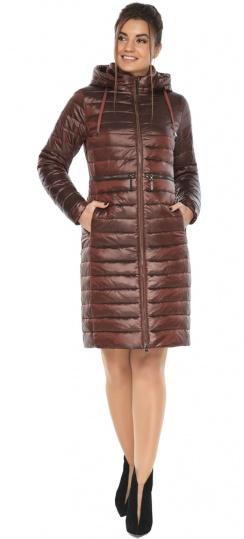 """Куртка трендовая каштановая женская осенне-весенняя модель 68410 Braggart """"Angel's Fluff"""" фото 1"""