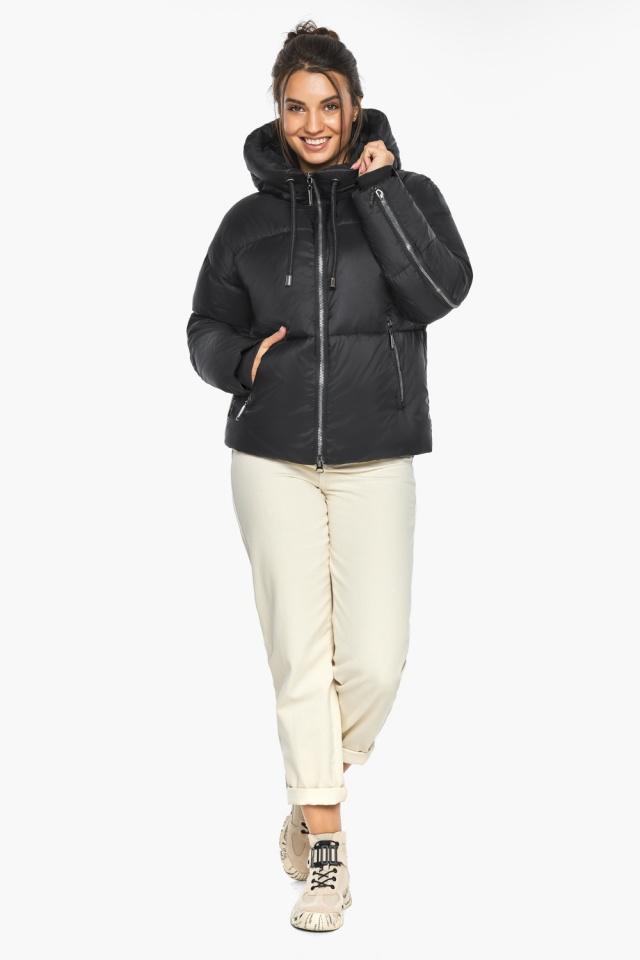 """Оригинальная куртка женская чёрная зимняя модель 46280 Braggart """"Angel's Fluff"""" фото 2"""