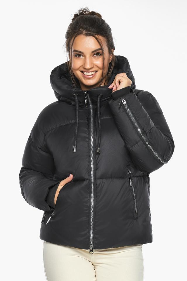 """Оригинальная куртка женская чёрная зимняя модель 46280 Braggart """"Angel's Fluff"""" фото 5"""