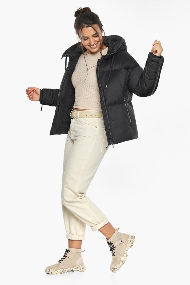 """Оригинальная куртка женская чёрная зимняя модель 46280 Braggart """"Angel's Fluff"""" фото 6"""