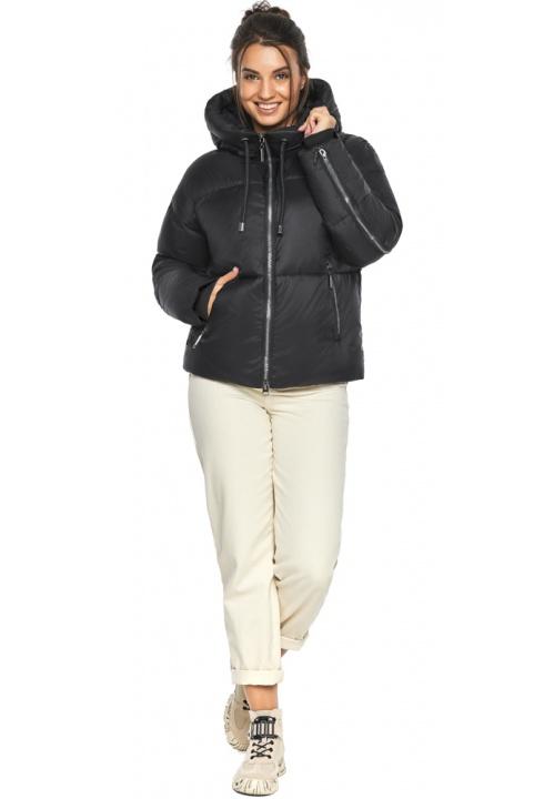 """Оригинальная куртка женская чёрная зимняя модель 46280 Braggart """"Angel's Fluff"""" фото 1"""