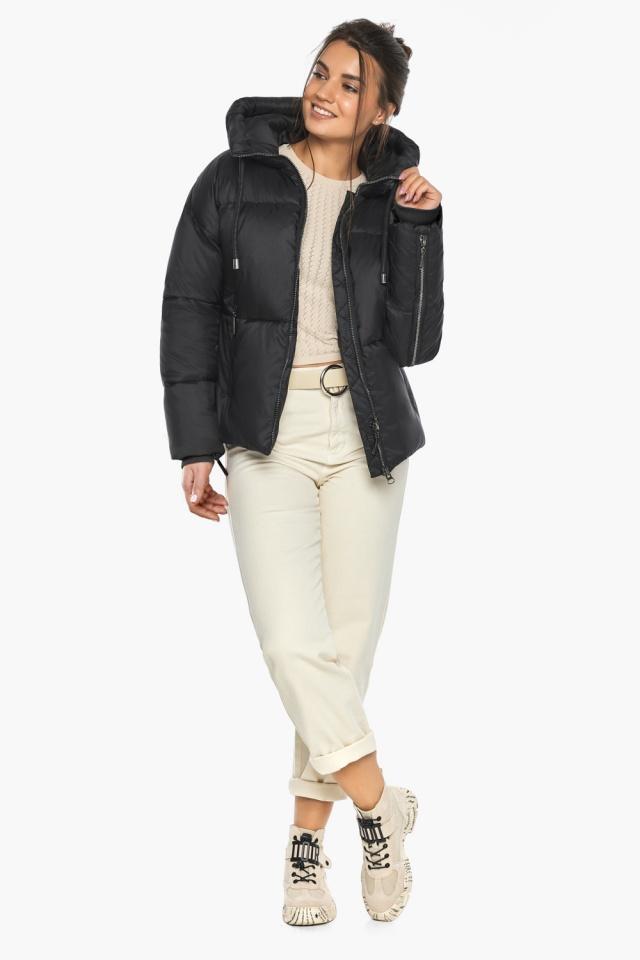 """Оригинальная куртка женская чёрная зимняя модель 46280 Braggart """"Angel's Fluff"""" фото 3"""
