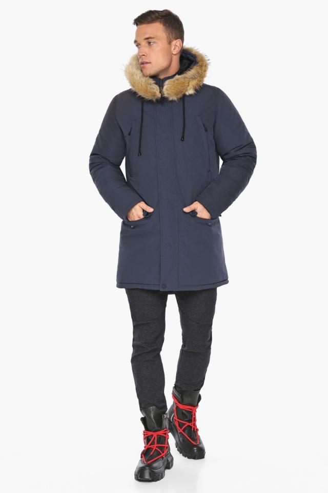 """Куртка – воздуховик зимний мужской синего цвета модель 45062 Braggart """"Angel's Fluff Man"""" фото 6"""