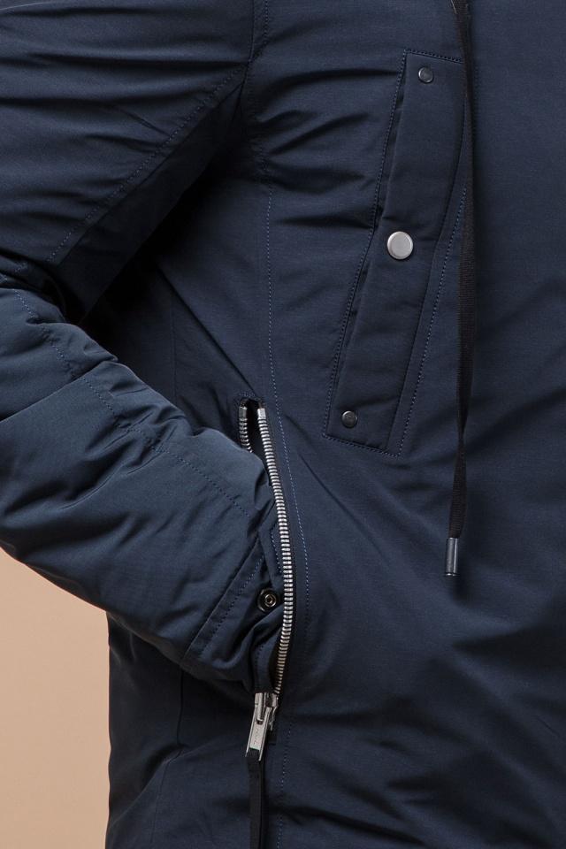"""Парка на двухходовой молнии синяя мужская зимняя модель 28431 Braggart """"Arctic"""" фото 7"""