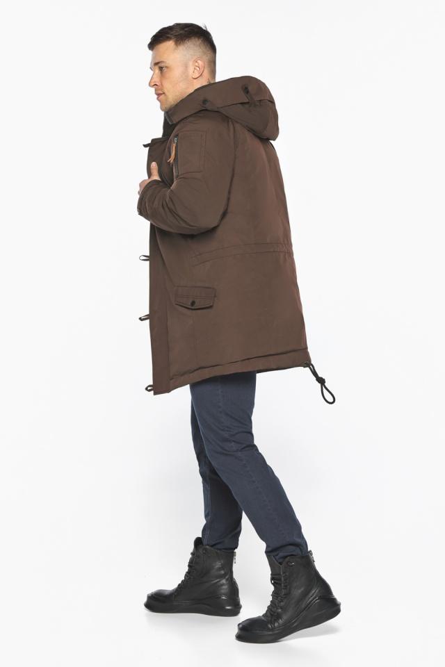 """Куртка – воздуховик коричневый утеплённый мужской зимний модель 30707 Braggart """"Angel's Fluff Man"""" фото 9"""