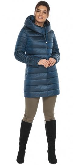 """Куртка удлинённая осенне-весенняя женская цвет тёмная лазурь модель 65085 Braggart """"Angel's Fluff"""" фото 1"""