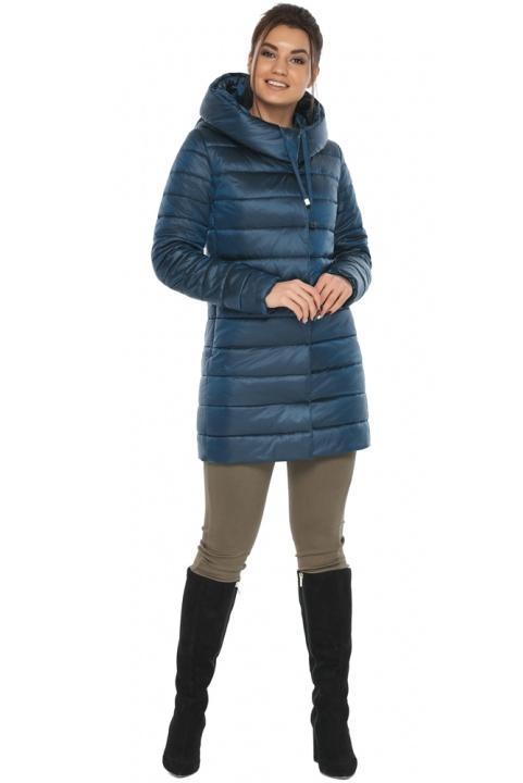 """Куртка подовжена осінньо-весняна жіноча колір темна блакить модель 65085 Braggart """"Angel's Fluff"""" фото 1"""