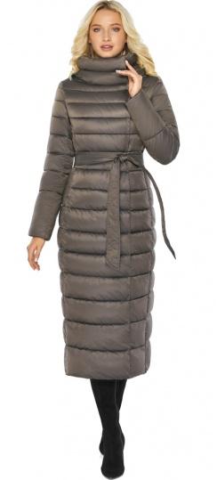 """Капучиновая куртка зимняя женская с вшитым капюшоном модель 46620 Braggart """"Angel's Fluff"""" фото 1"""