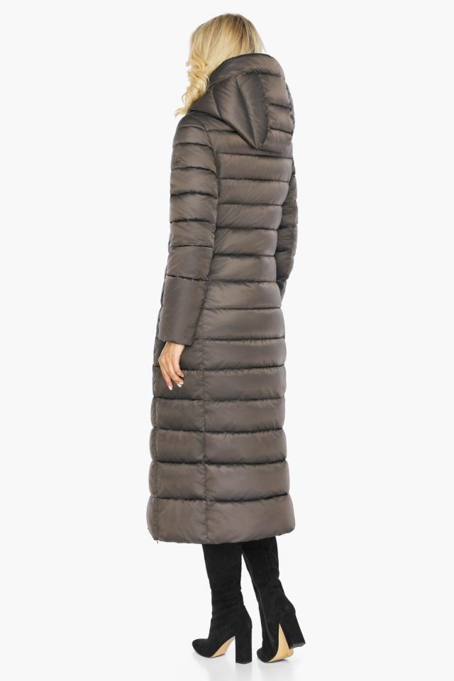 """Капучиновая куртка зимняя женская с вшитым капюшоном модель 46620 Braggart """"Angel's Fluff"""" фото 10"""