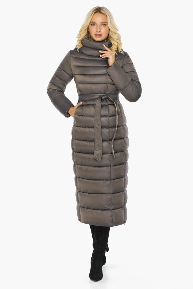 """Капучиновая куртка зимняя женская с вшитым капюшоном модель 46620 Braggart """"Angel's Fluff"""" фото 6"""