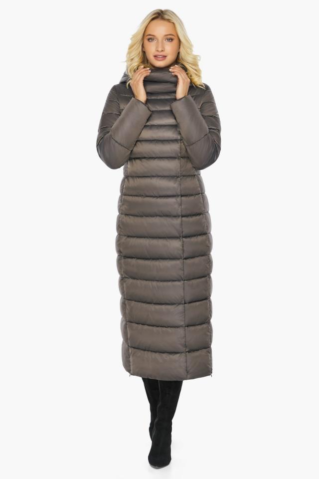 """Капучиновая куртка зимняя женская с вшитым капюшоном модель 46620 Braggart """"Angel's Fluff"""" фото 5"""