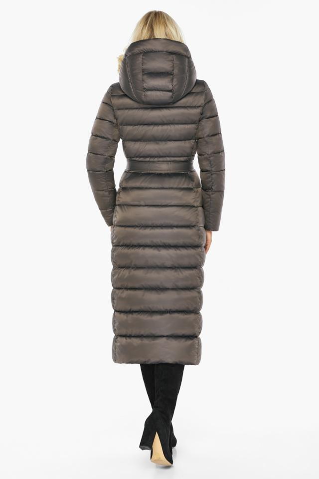"""Капучиновая куртка зимняя женская с вшитым капюшоном модель 46620 Braggart """"Angel's Fluff"""" фото 11"""