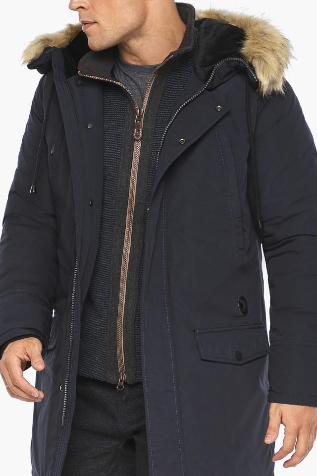 Мужской зимний воздуховик цвет темно-синий модель 45062