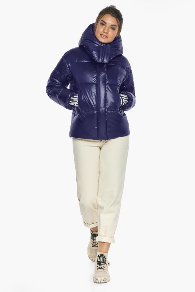 """Куртка синяя трендовая женская модель 44520 Braggart """"Angel's Fluff"""" фото 2"""