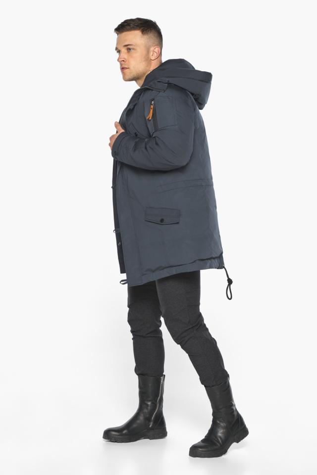 """Куртка – воздуховик мужской зимний удлинённый графитово-синий модель 30707 Braggart """"Angel's Fluff Man"""" фото 7"""