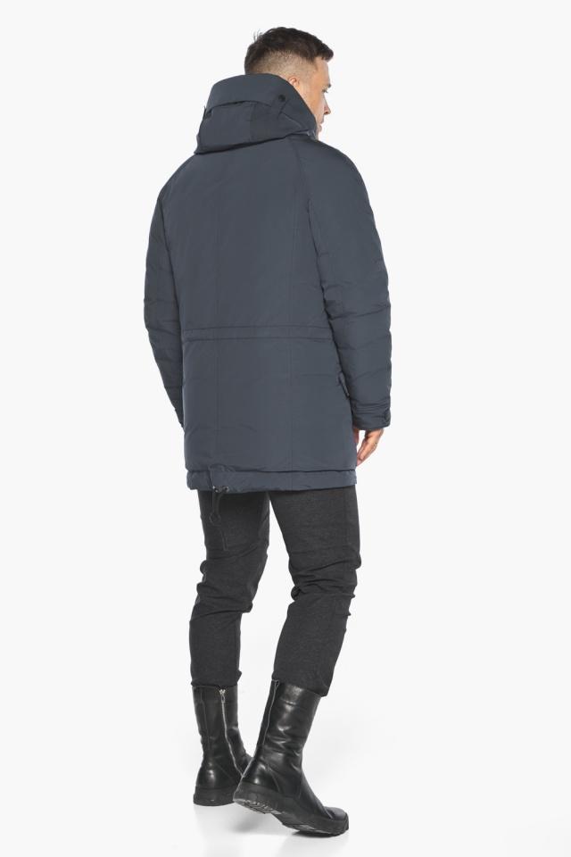 """Куртка – воздуховик мужской зимний удлинённый графитово-синий модель 30707 Braggart """"Angel's Fluff Man"""" фото 9"""