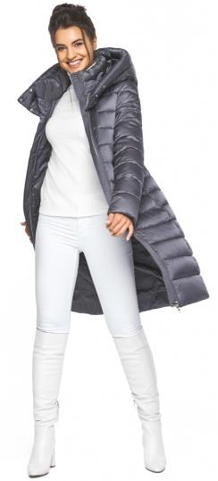 """Жемчужно-серая куртка женская стильная модель 44860 Braggart """"Angel's Fluff"""" фото 1"""