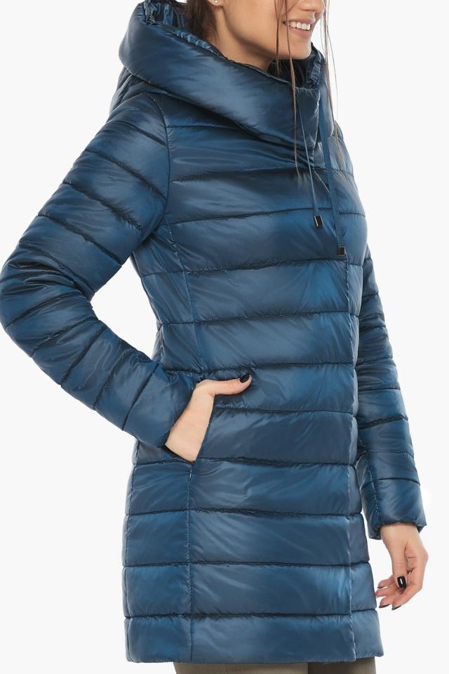 """Куртка удлинённая осенне-весенняя женская цвет тёмная лазурь модель 65085 Braggart """"Angel's Fluff"""" фото 7"""