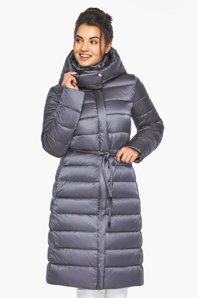 """Жемчужно-серая куртка женская стильная модель 44860 Braggart """"Angel's Fluff"""" фото 4"""