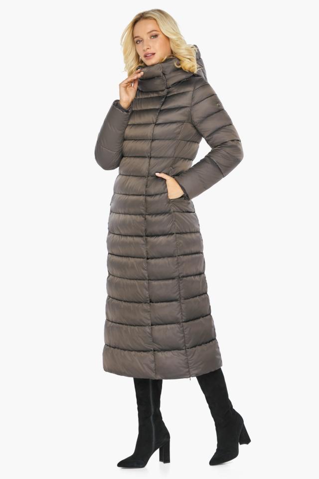 """Капучиновая куртка зимняя женская с вшитым капюшоном модель 46620 Braggart """"Angel's Fluff"""" фото 8"""