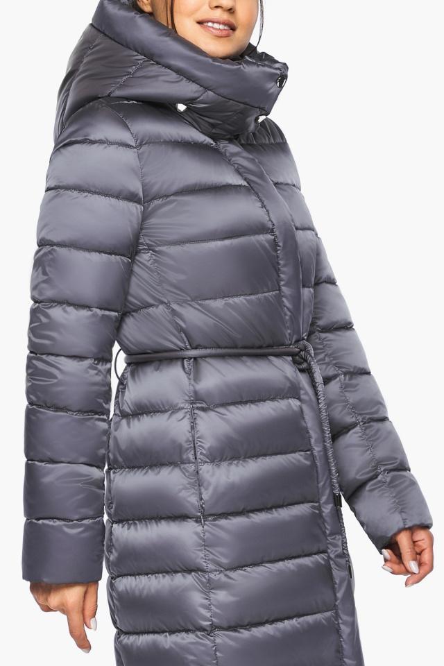 """Жемчужно-серая куртка женская стильная модель 44860 Braggart """"Angel's Fluff"""" фото 7"""