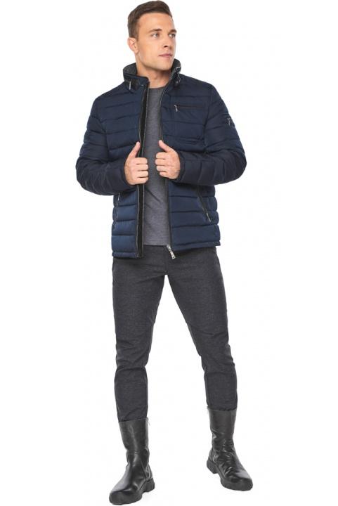 """Куртка – воздуховик укороченный зимний мужской тёмно-синий модель 52570 Braggart """"Angel's Fluff Man"""" фото 1"""