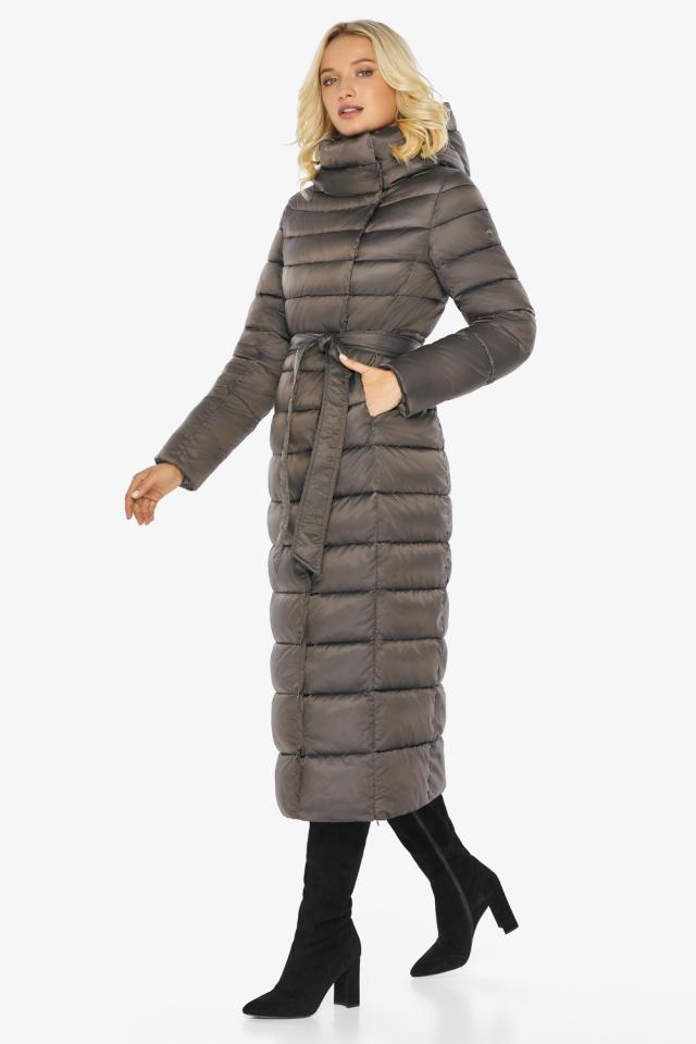 """Капучиновая куртка зимняя женская с вшитым капюшоном модель 46620 Braggart """"Angel's Fluff"""" фото 9"""
