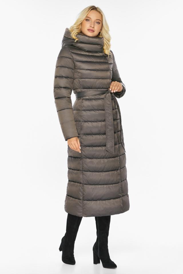 """Капучиновая куртка зимняя женская с вшитым капюшоном модель 46620 Braggart """"Angel's Fluff"""" фото 7"""