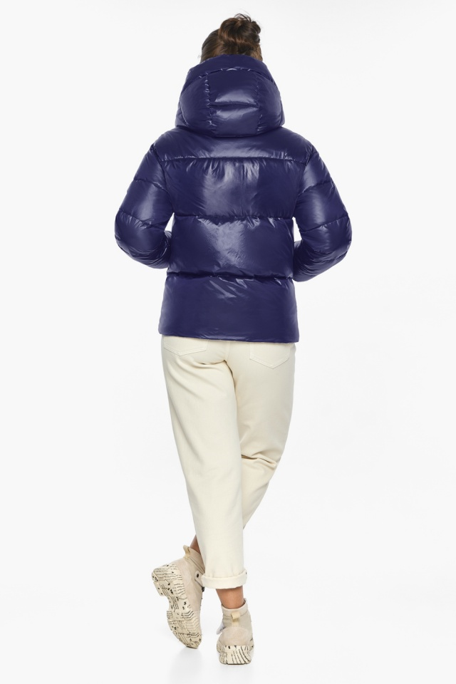 """Куртка синяя трендовая женская модель 44520 Braggart """"Angel's Fluff"""" фото 8"""
