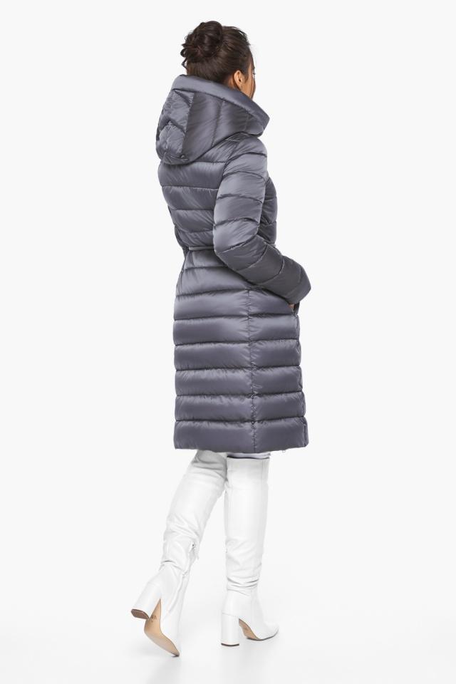 """Жемчужно-серая куртка женская стильная модель 44860 Braggart """"Angel's Fluff"""" фото 6"""