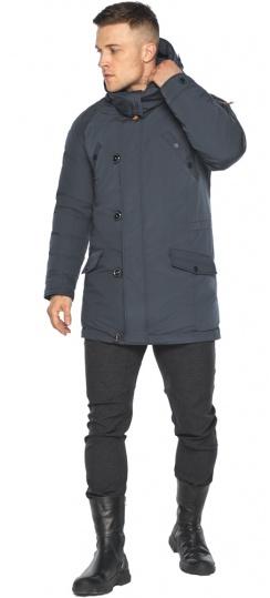 """Куртка – воздуховик мужской зимний удлинённый графитово-синий модель 30707 Braggart """"Angel's Fluff Man"""" фото 1"""