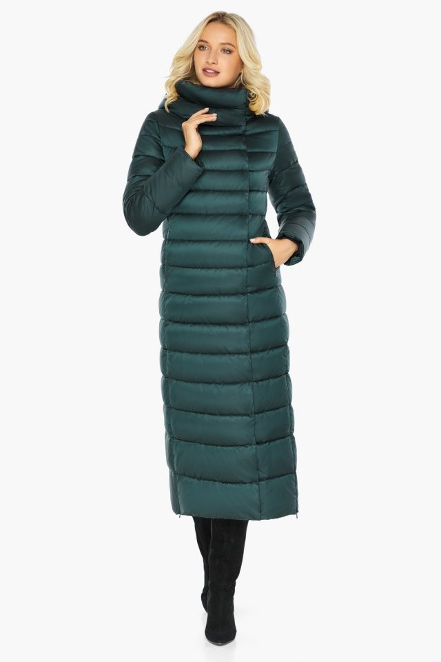 """Куртка зимняя изумрудная женская с манжетами модель 46620 Braggart """"Angel's Fluff"""" фото 6"""