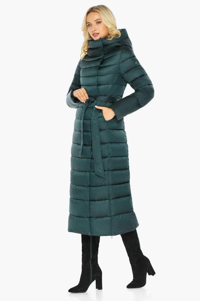 """Куртка зимняя изумрудная женская с манжетами модель 46620 Braggart """"Angel's Fluff"""" фото 9"""