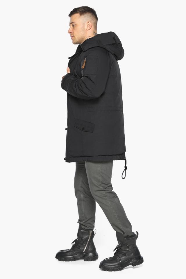 """Куртка – воздуховик прямого кроя чёрный мужской на зиму модель 30707 Braggart """"Angel's Fluff Man"""" фото 8"""